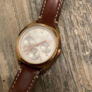 Coach Accessories - COACH Teagan Mini Strap Watch in Russet Soft Port